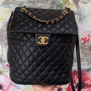 CHANEL CALF SKIN QUILTED URBAN SPIRIT BACKPACK